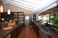 modern kitchen appliances in Saint Barth Luxury Villa Amancaya Estate vacation rental