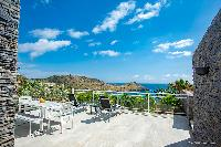 beautiful terrace of Saint Barth Villa Cacao luxury home, vacation rental