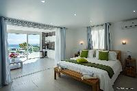 pristine bedding in Saint Barth Villa Cacao luxury home, vacation rental