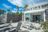 cool poolside area of Saint Barth Villa Cacao luxury home, vacation rental
