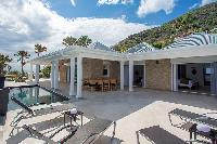 cool poolside of Saint Barth Villa Cacao luxury home, vacation rental