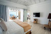 fresh bed sheets in Saint Barth Villa Cacao luxury home, vacation rental