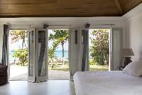 fresh bed sheets in Saint Barth Villa Le Moulin luxury holiday home, vacation rental