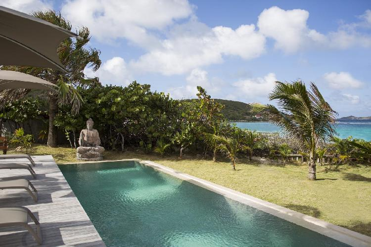 relaxing pool of Saint Barth Villa Le Moulin luxury holiday home, vacation rental