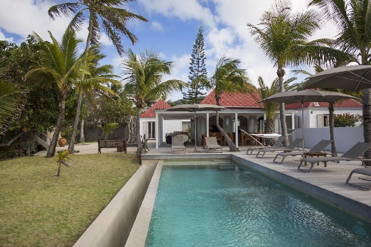 refreshing swimming pool of Saint Barth Villa Le Moulin luxury holiday home, vacation rental