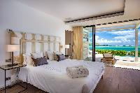 fresh bedroom linens in Saint Barth Villa Aqua luxury holiday home, vacation rental