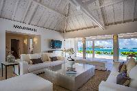 cool living room of Saint Barth Villa Aqua luxury holiday home, vacation rental