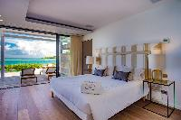 clean bedroom linens in Saint Barth Villa Aqua luxury holiday home, vacation rental