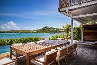 cool terrace of Saint Barth Villa Aqua luxury holiday home, vacation rental