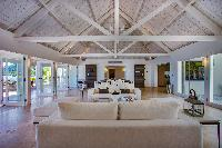 cool sitting area in Saint Barth Villa Aqua luxury holiday home, vacation rental