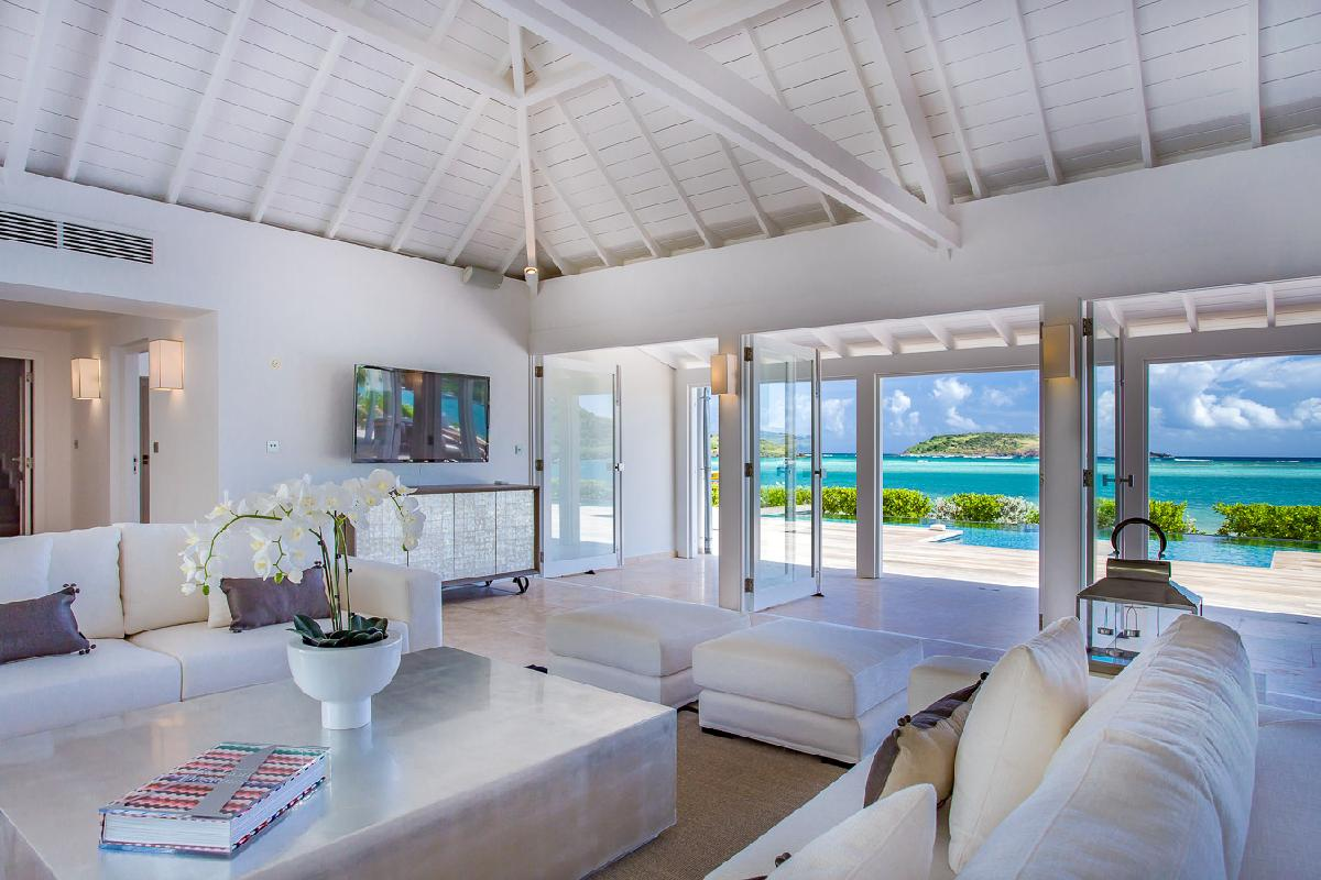 beautiful seaside Saint Barth Villa Bleu luxury holiday home, vacation rental
