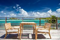 cool balcony of Saint Barth Villa Bleu luxury holiday home, vacation rental