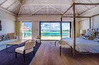 clean bedroom linens in Saint Barth Villa Bleu luxury holiday home, vacation rental