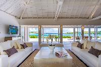 cool living room of Saint Barth Villa Bleu luxury holiday home, vacation rental