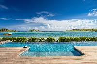 cool swimming pool of Saint Barth Villa Bleu luxury holiday home, vacation rental