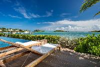 cool poolside of Saint Barth Villa Bleu luxury holiday home, vacation rental