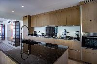 modern kitchen appliances in Saint Barth Villa Bleu luxury holiday home, vacation rental