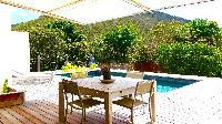 cool poolside lanai of Saint Barth Villa Petit Paradis luxury holiday home, vacation rental
