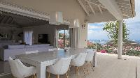 cool lanai of Saint Barth Villa Prestige holiday home, luxury vacation rental
