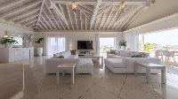 cool living room of Saint Barth Villa Prestige holiday home, luxury vacation rental