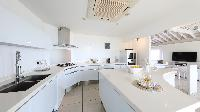 cool kitchen of Saint Barth Villa Prestige holiday home, luxury vacation rental