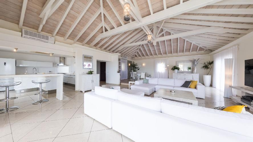 fabulous living room of Saint Barth Villa Prestige holiday home, luxury vacation rental