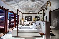 clean bedroom linens in Saint Barth Luxury Villa Blanc Bleu holiday home, vacation rental