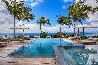 relaxing pool of Saint Barth Luxury Villa Blanc Bleu holiday home, vacation rental