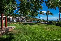 lush grounds of Saint Barth Luxury Villa Blanc Bleu holiday home, vacation rental
