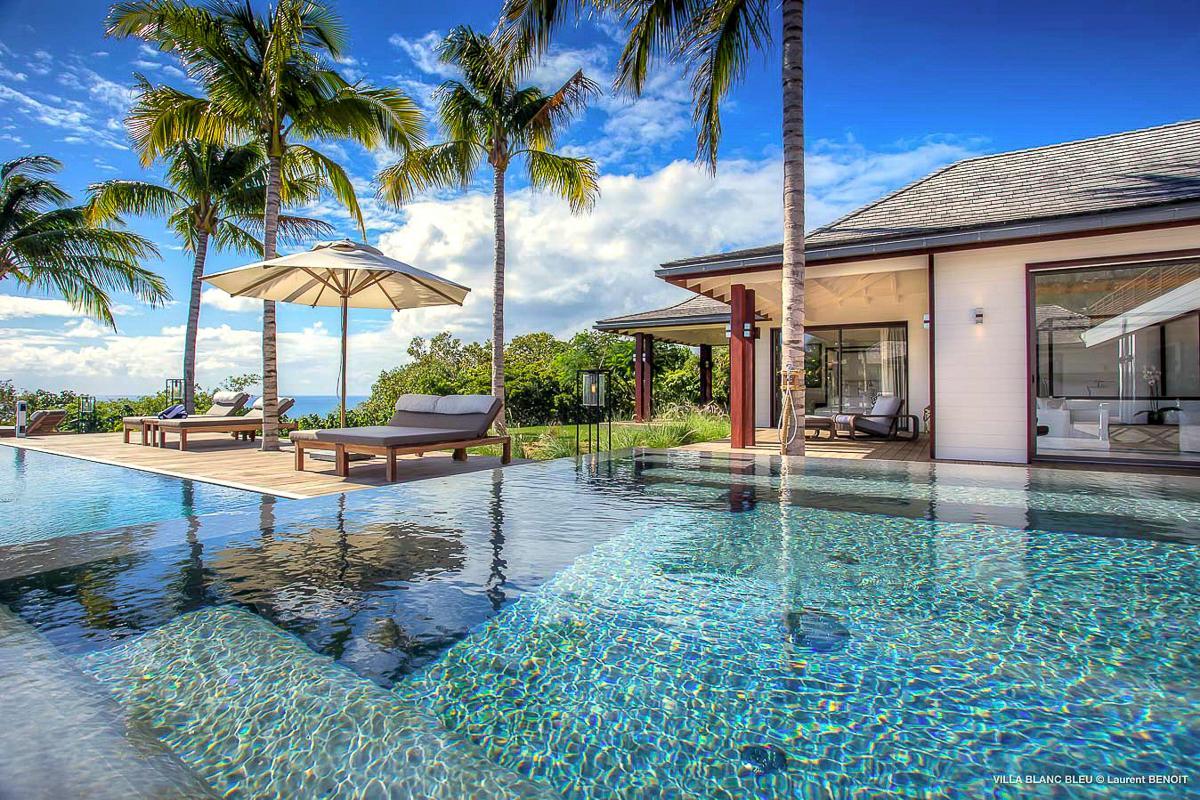 beautiful Saint Barth Luxury Villa Blanc Bleu holiday home, vacation rental