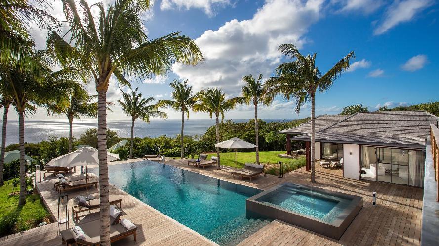 gorgeous Saint Barth Luxury Villa Blanc Bleu holiday home, vacation rental
