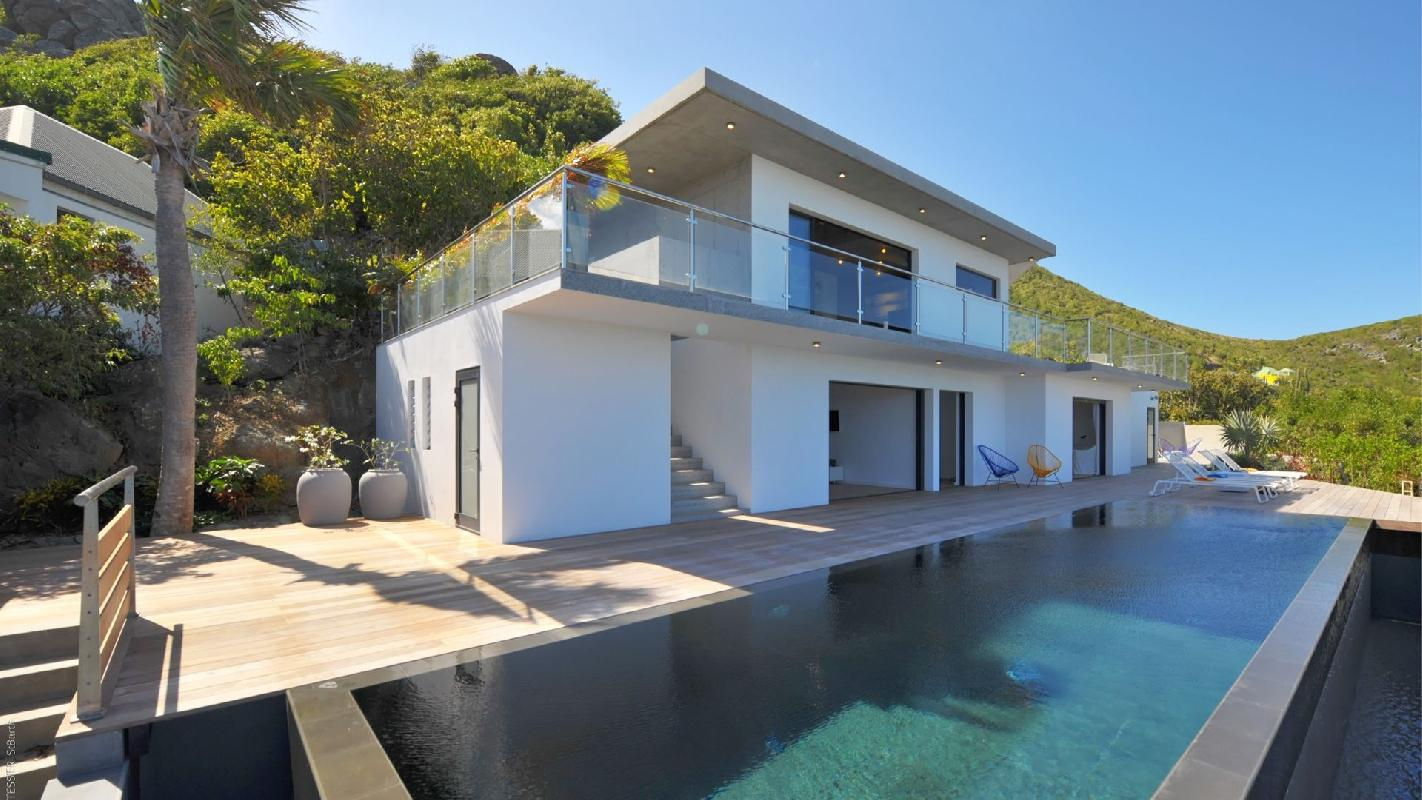 beautiful multilevel Saint Barth Luxury Villa Eranos holiday home, vacation rental