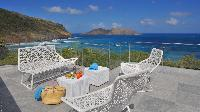 cool balcony of Saint Barth Luxury Villa Eranos holiday home, vacation rental