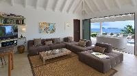 delightful living room of Saint Barth Villa Jali luxury holiday home, vacation rental