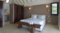 fresh bedroom linens in Saint Barth Villa Jali luxury holiday home, vacation rental