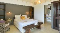 pristine bedding in Saint Barth Villa Jali luxury holiday home, vacation rental