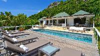 cool poolside of Saint Barth Villa Jali luxury holiday home, vacation rental