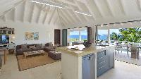 impressive ceiling of Saint Barth Villa Jali luxury holiday home, vacation rental