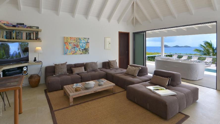 delightful living room of Saint Barth Villa Jali luxury holiday home, vacation rental