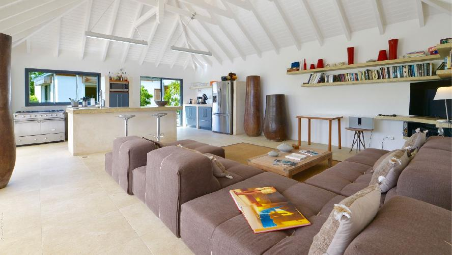 delightful sitting room in Saint Barth Villa Jali luxury holiday home, vacation rental