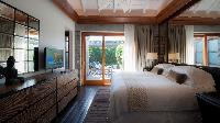 clean bedroom linens in Saint Barth Villa La Danse Des Etoiles luxury holiday home, vacation rental