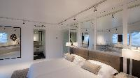 fresh bedroom linens in Saint Barth Villa La Danse Des Etoiles luxury holiday home, vacation rental