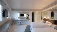 crisp bed sheets in Saint Barth Villa La Danse Des Etoiles luxury holiday home, vacation rental