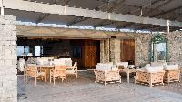 cool patio of Saint Barth Villa La Danse Des Etoiles luxury holiday home, vacation rental