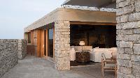 cool lanai of Saint Barth Villa La Danse Des Etoiles luxury holiday home, vacation rental