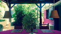 cool pergola of Saint Barth Villa Lezard Palace luxury holiday home, vacation rental