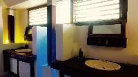 cool bathroom in Saint Barth Villa Lezard Palace luxury holiday home, vacation rental