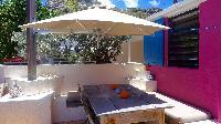 cool patio of Saint Barth Villa Lezard Palace luxury holiday home, vacation rental