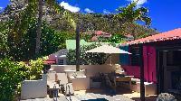 cool veranda of Saint Barth Villa Lezard Palace luxury holiday home, vacation rental