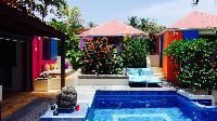 cool swimming pool of Saint Barth Villa Lezard Palace luxury holiday home, vacation rental